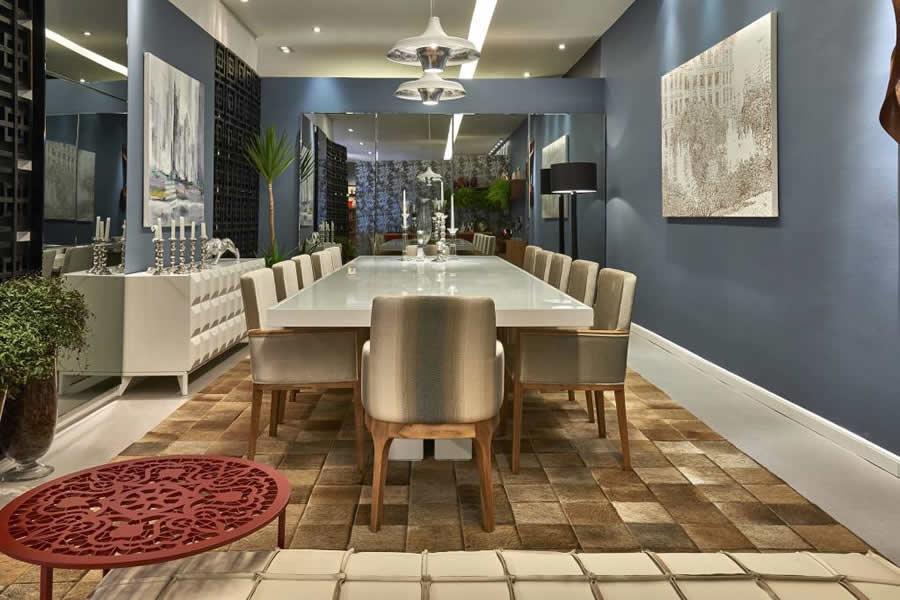 Sala De Jantar Lopas Iracema ~ Sala de Estar Rústica com Teto de Madeira