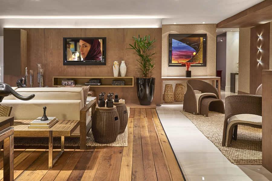Sala De Jantar Rustica ~ Sala Rústica com Piso de Madeira # decoracao de sala rustica moderna