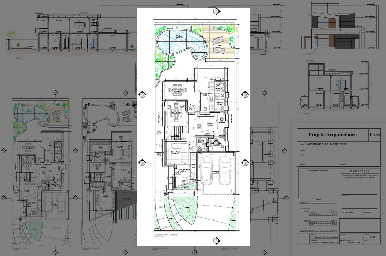Planta Baixa Completa Reproduo Canaille Lioz Arquitetura With