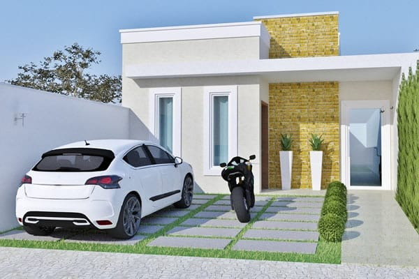 Planta t rrea contempor nea projetos de casas modelos for Casa moderna 7x20