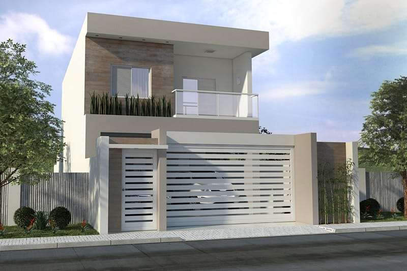 Planta de sobrado com 3 quartos projetos de casas for Casas modernas 8x20