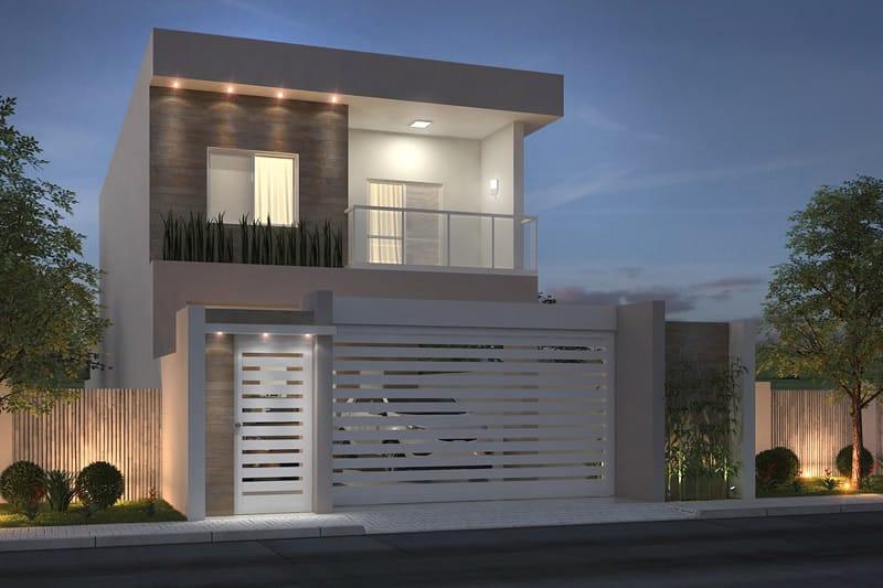 Fachada de casa moderna para rua