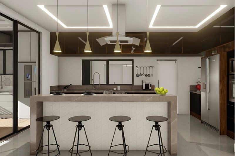Cozinha moderna com ilha