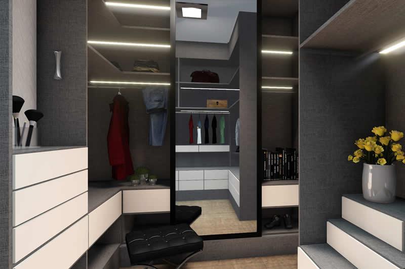 Closet moderno escuro