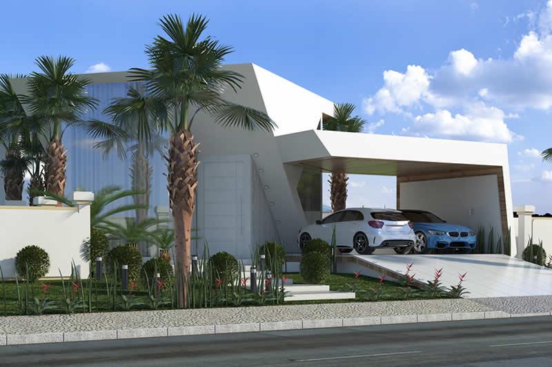 Modelo de fachada de casa