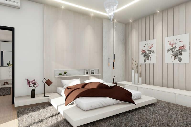 Suíte com cama japonesa