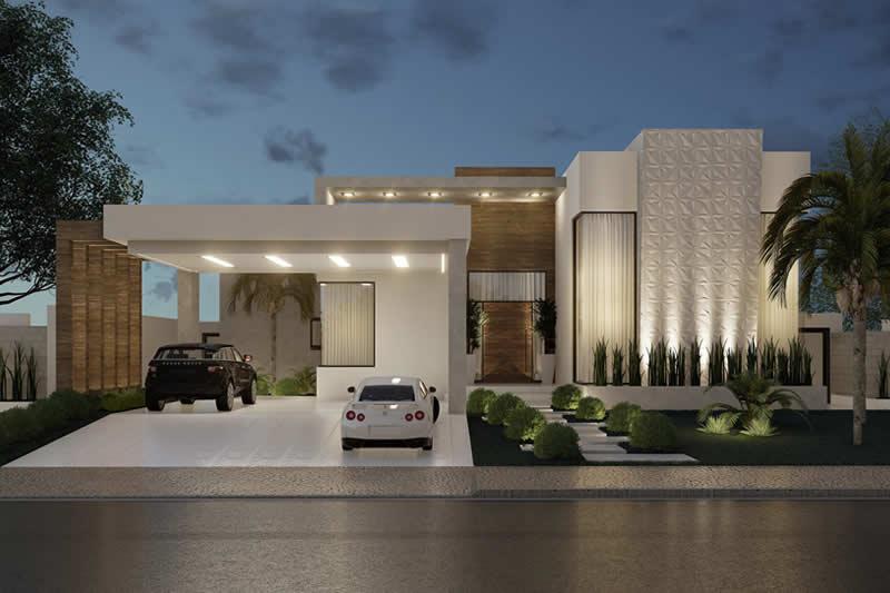 Projeto de casa térrea para terreno grande