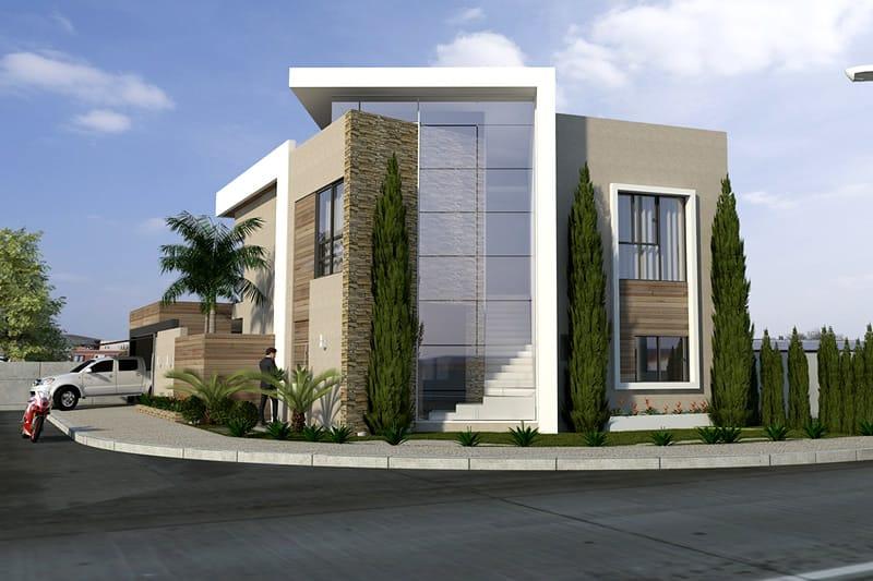 de casa de esquina   projetos de casas modelos de casas e fachadas de