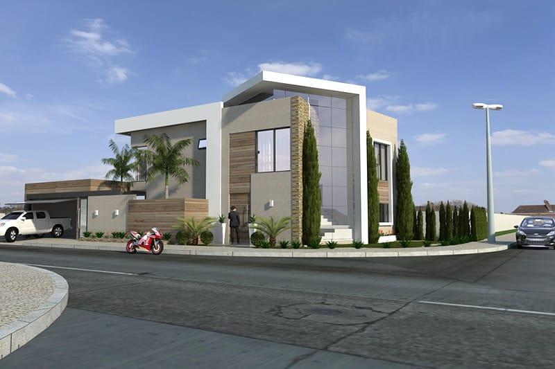 Planta de casa de esquina projetos de casas modelos de for Casa moderna esquina