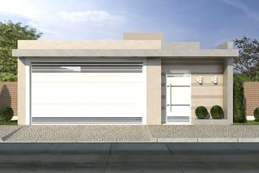 Casa com 8 metros de frente