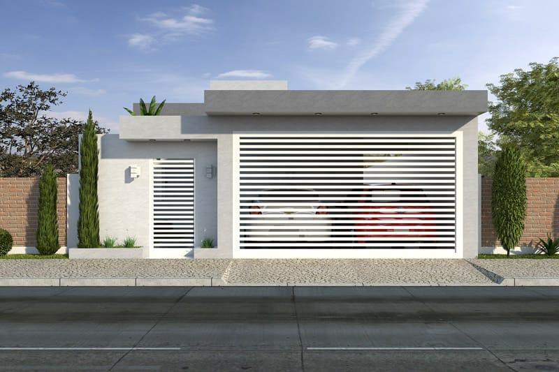 Planta de casa econ mica projetos de casas modelos de for Modelo de casa x dentro