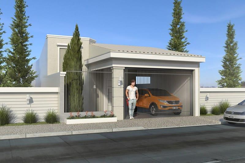 Fachada de casa para rua