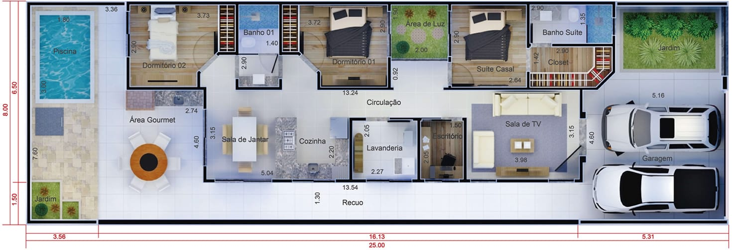 Planta De Casa Pr Tica E Funcional Projetos De Casas
