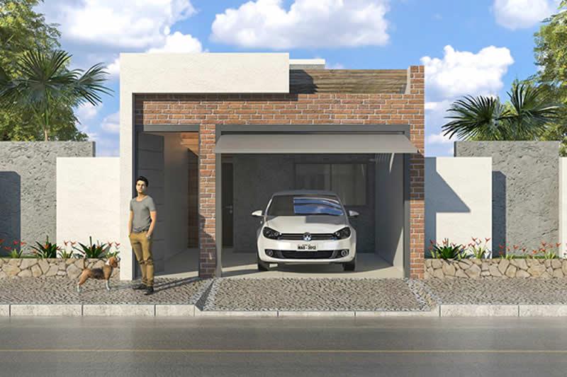 Planta minha casa minha vida moderna