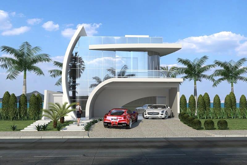 Projeto de casa de praia