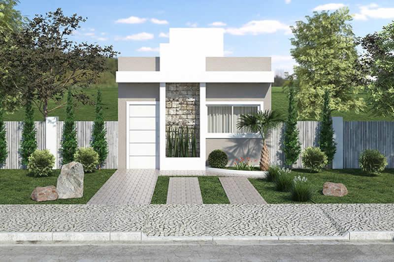 Planta de casa popular com 3 quartos projetos de casas for Casa popular
