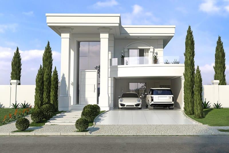 Planta de casa neoclassica projetos de casas modelos de for Casa classica moderna