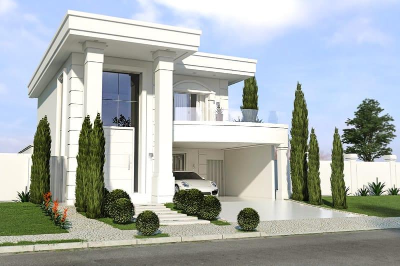 Planta de casa neoclassica