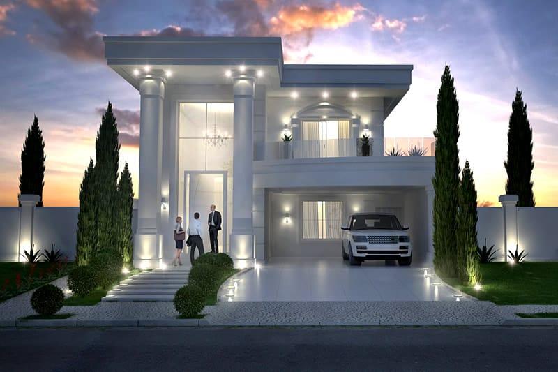 Planta de casa neoclassica projetos de casas modelos de for Casa moderna 7x20