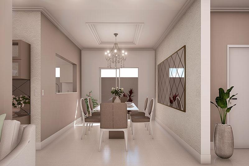 Sala de jantar neoclássica