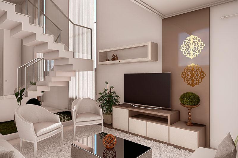 Sala de TV neoclássica