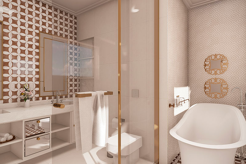 Banheiro de casal luxo
