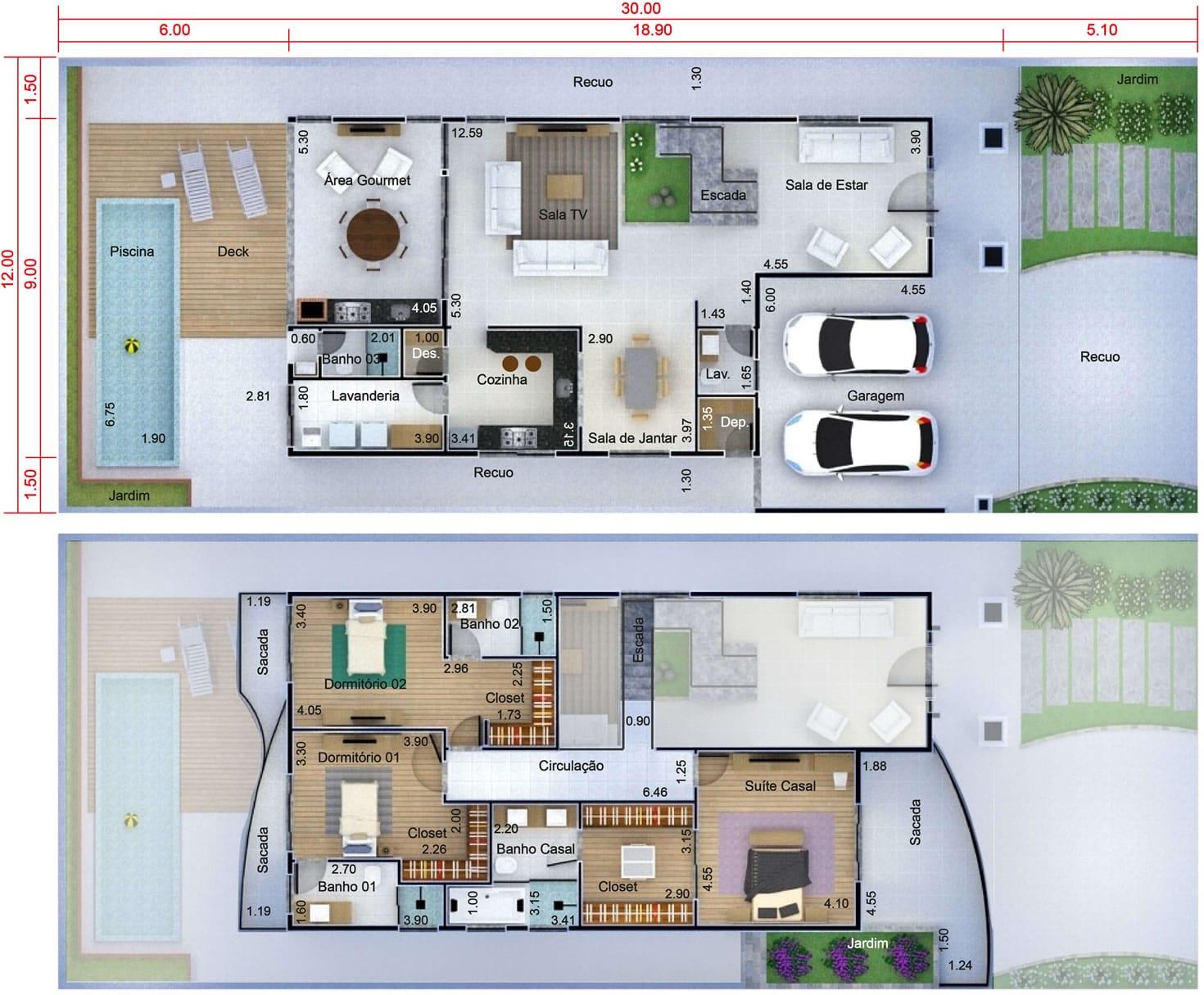 Planta de casa neocl ssica projetos de casas modelos de - Plantas para casas ...