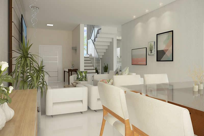 Planta de sobrado moderno com 3 quartos projetos de for Modelos de dormitorios modernos