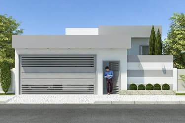 Planta de casa térrea moderna
