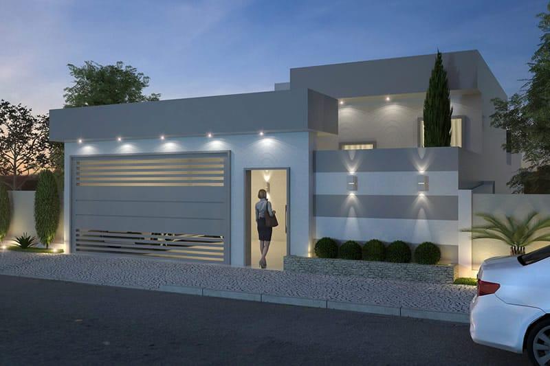 Planta de casa t rrea moderna projetos de casas modelos for Fachadas de casas modernas con zaguan