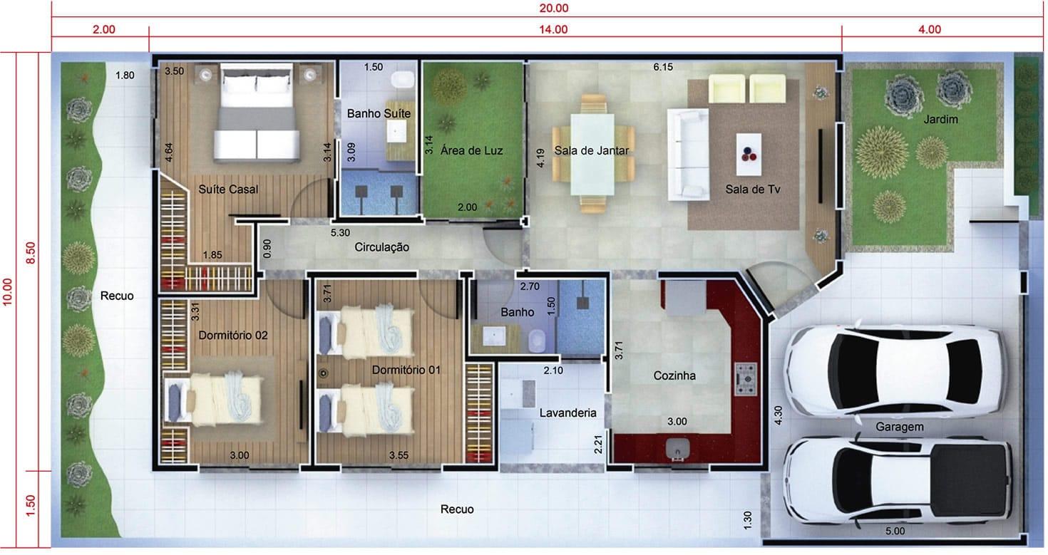 Planta de casa t rrea moderna projetos de casas modelos for Plantas de casas modernas con piscina