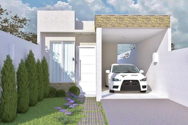 Planta de casa t rrea com telhado embutido projetos de for Modelo de casa x dentro