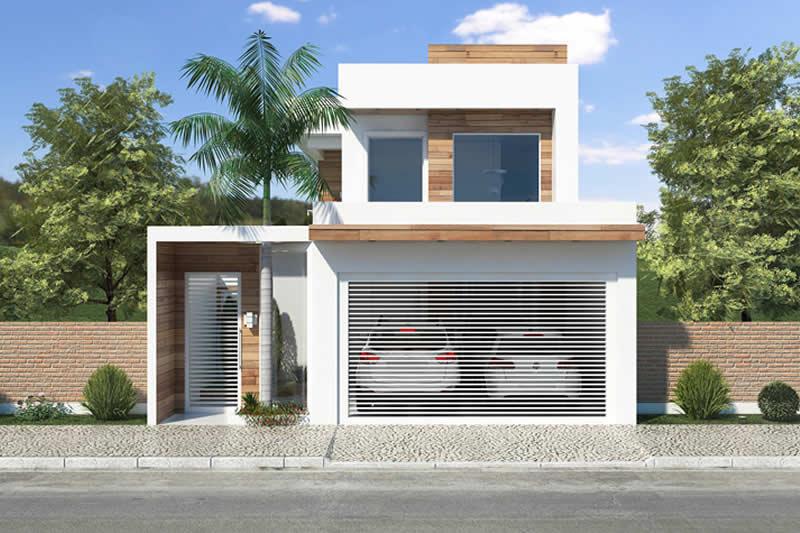Planta de sobrado com varanda gourmet projetos de casas for Casa moderna 80m2