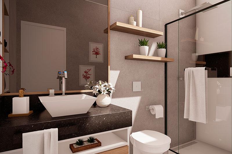 Banheiro sofisticado