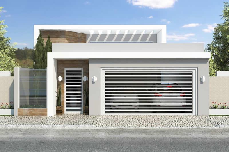 Planta de casa com 3 quartos projetos de casas modelos for Casa moderna 2 andares 3 quartos