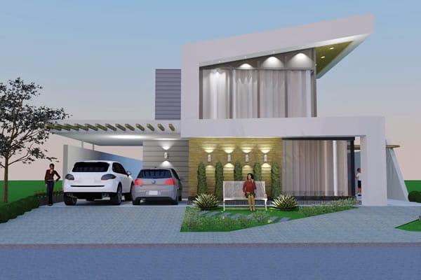 planta de casa com design moderno projetos de casas