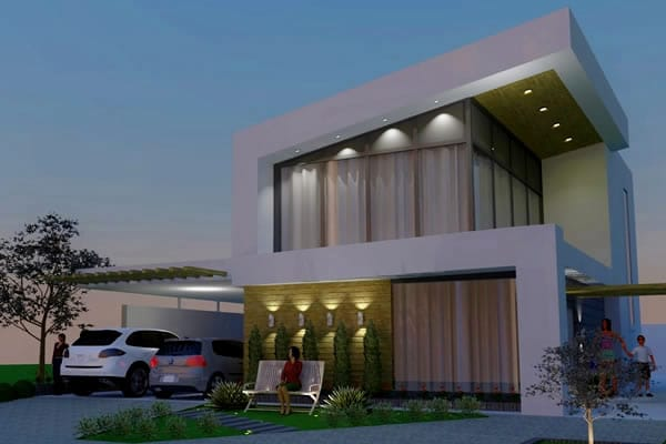 Casa grande moderna e bonita
