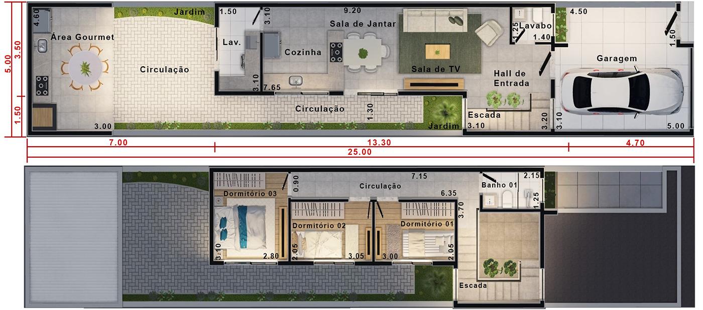 Planta De Edicula Com Projetos Plantas E Modelos De Casa Edcula E