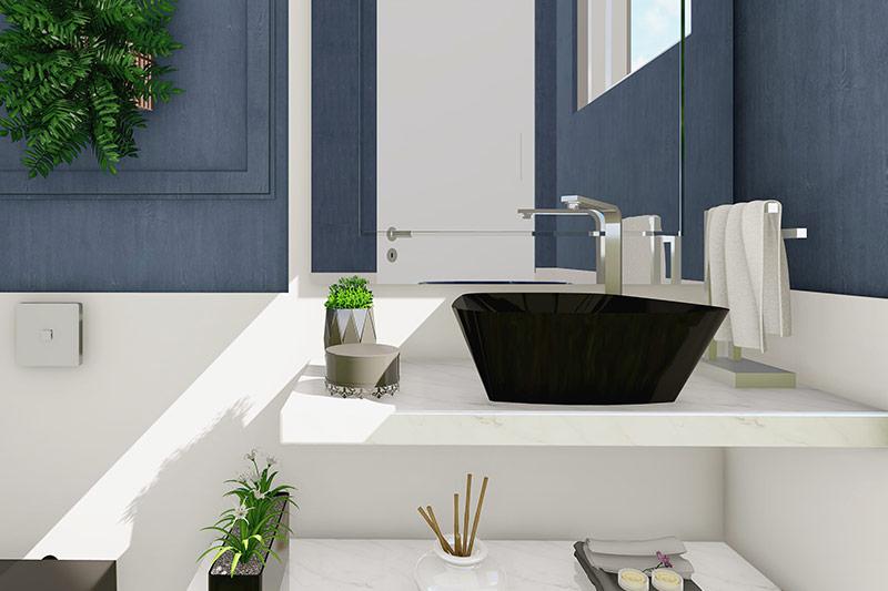 Lavabo com plantas