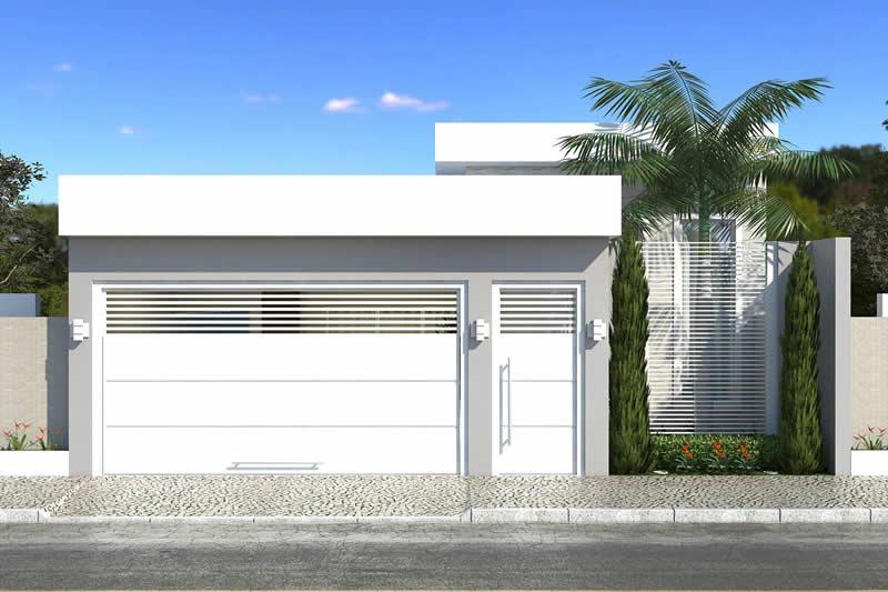 Planta de casa com churrasqueira na frente projetos de for Modelos de frentes de casas