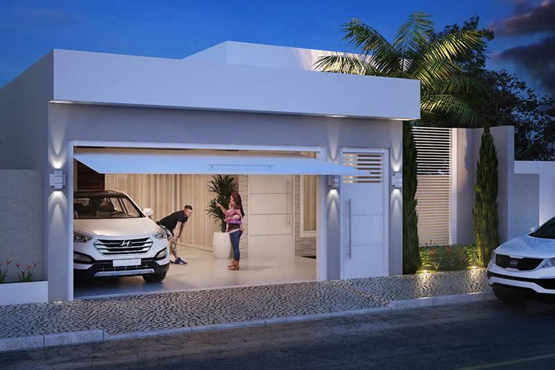Casa com portão eletrônico
