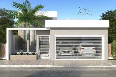 Planta de casa com port o fechado projetos de casas for Casa minimalista 7x20
