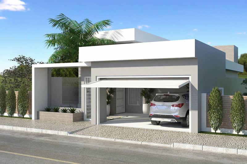 Residência com fachada