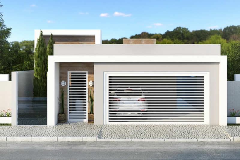 Planta de casa com 3 quartos e closet projetos de casas for Casas modernas de 70m2