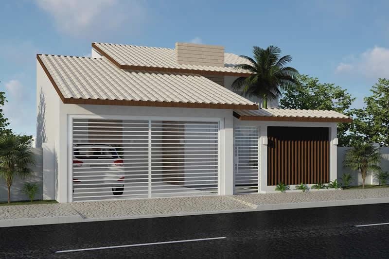 Planta de casa com telhado
