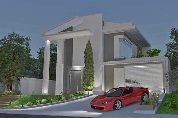 Casa estilo neoclássica