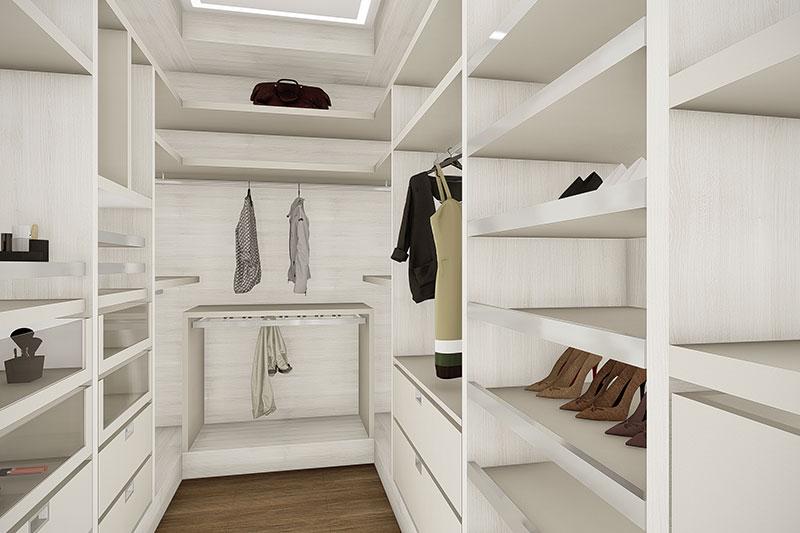 Closet clean branco
