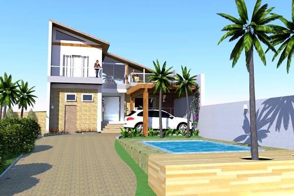 Residência com piscina lateral