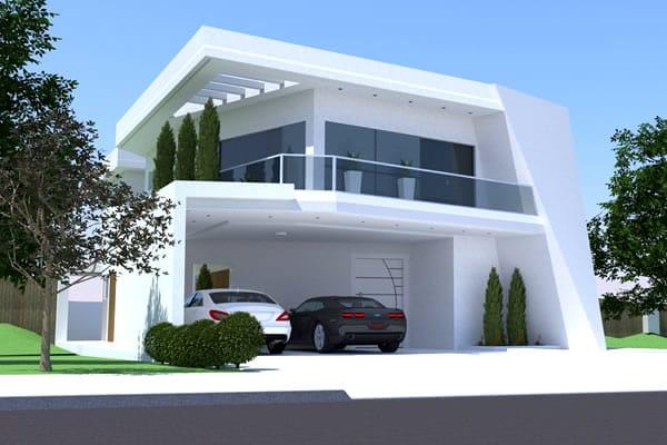 Planta contempor nea com 3 su tes projetos de casas for Fachadas hoteles minimalistas