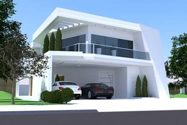 Casa com design contemporâneo